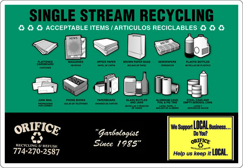 Single Stream Recycling in Weston, Wayland, Lincoln and Sudbury