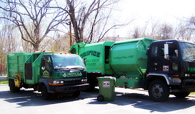 waste hauling trucks Weston